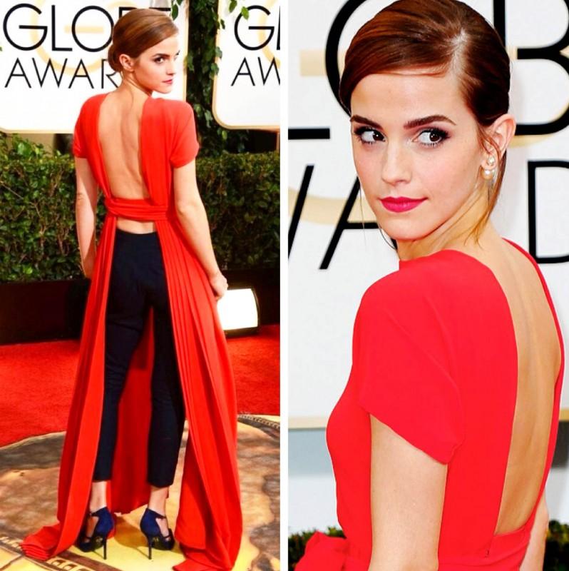 emma watson golden globes dior dress 2014