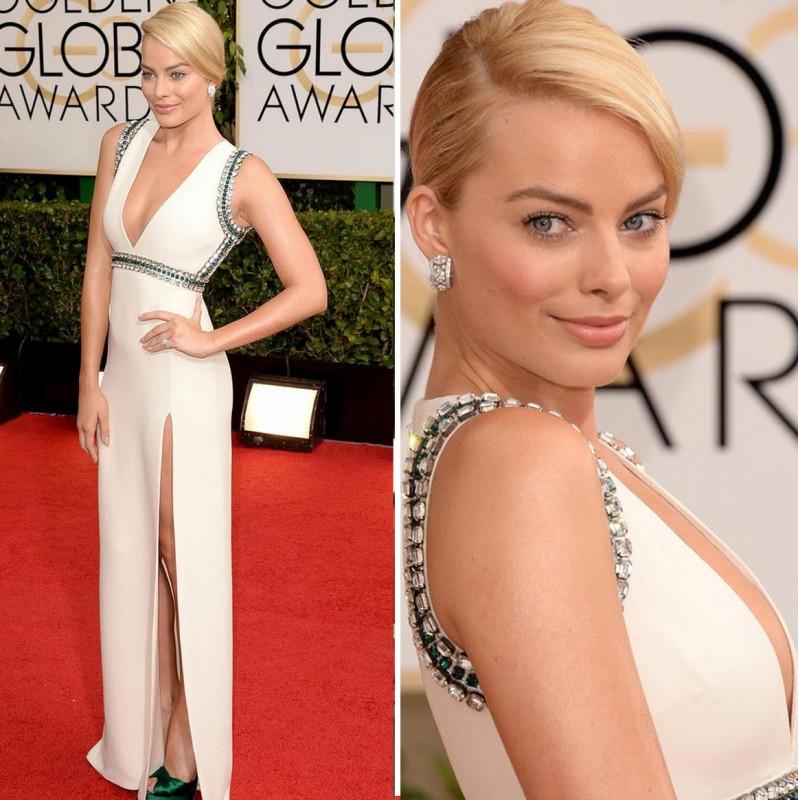 margot robbie golden globes 2014 dress gucci