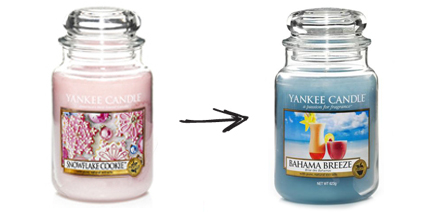 Winter Yankee Candle to Summer Yankee Candle
