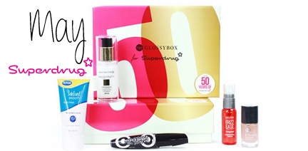 Glossybox May 2014 Superdrug 50th