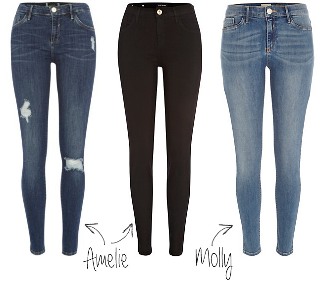 river island jeans the denim collection amelie molly jeggings