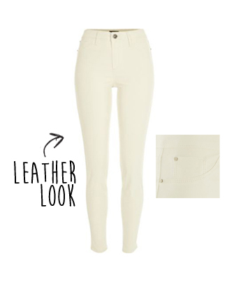 River Island leather look jeggings