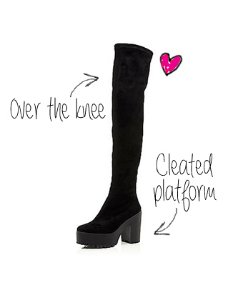 http://www.riverisland.com/women/shoes--boots/calf--knee-high-boots/Black-cleated-platform-over-the-knee-boots-658871