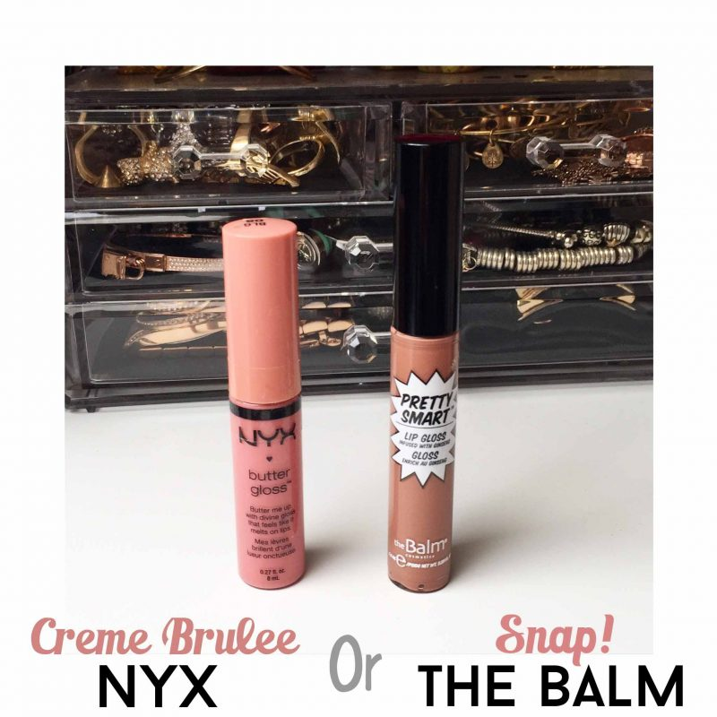 the balm pretty smart nyx butter gloss