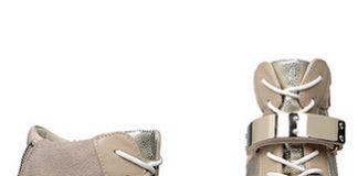 aldo haerani wedge trainers nude gold
