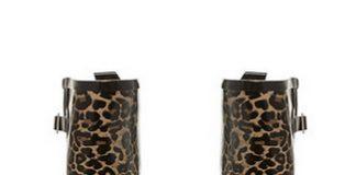 red herring leopard print wellies