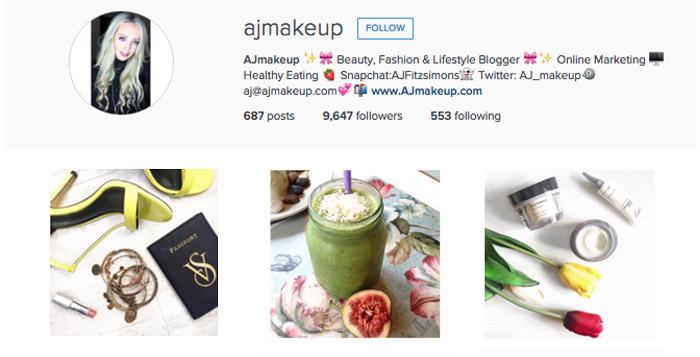 ajmakeup instagram