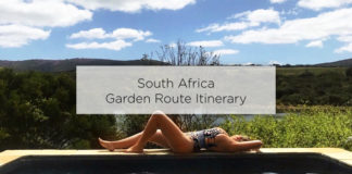 south africa garden route itinerary