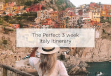 3 week italy itinerary