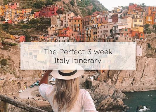 3 week italy itinerary