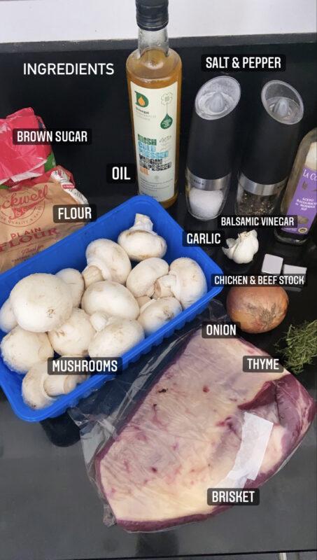 Slow cooked Brisket and Mushroom Gravy