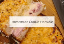 homemade croque monsieur