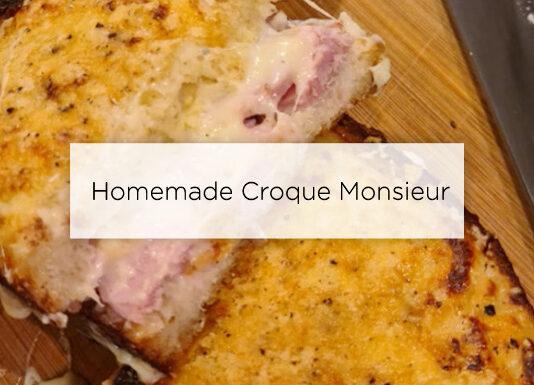 homemade croque monsieur